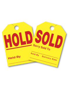 Sold/Hold Mirror Hang Tags