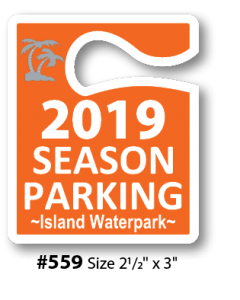 Custom Spot Color Hanging Parking Permits