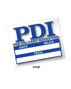 Pre-Delivery Inspection Static Cling Stickers