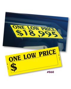 """One Low Price"" Window Stickers"
