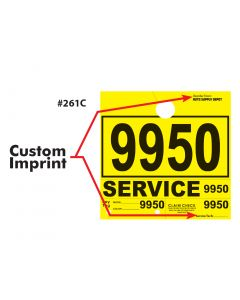 V-T CUSTOM Service Department Hang Tags PLUS